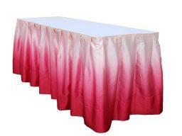 テーブルスカート ぼかしピンク